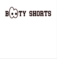 Booty Shorts Silhouette Cameo Design
