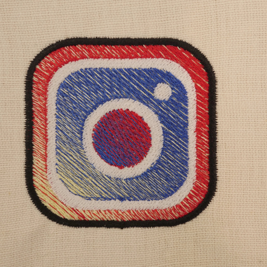 Instagram Logo Gradient Embroidery Design