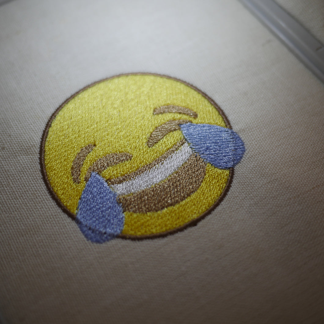LOL Embroidery Emoji Design