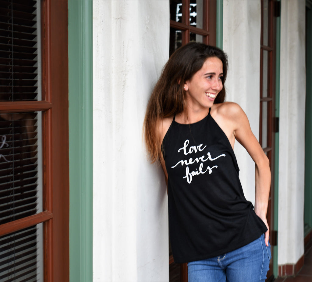 High Neck Tank | Love Never Fails | The Stella - Ariella's Designs
