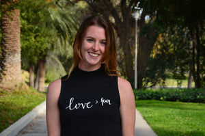 Mockneck Tank | Love > fear | The Cece - Ariella's Designs