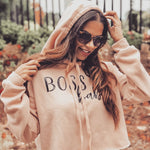 Cropped Hoodie | Boss Babe | The Coco - Ariella's Designs