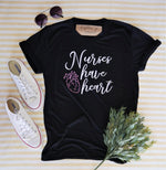 Crew Tee | Nurses Have Heart | The Leah - Ariella's Designs