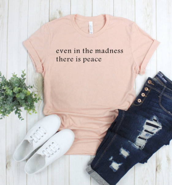 Crew Tee | There Is Peace | The Leah - Ariella's Designs