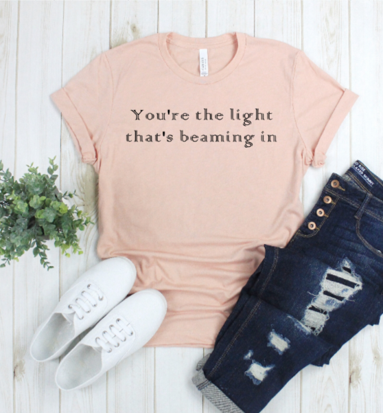 Crew Tee | Beaming Light | The Leah - Ariella's Designs