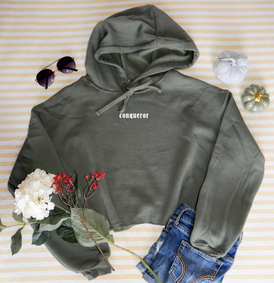 Cropped Hoodie | Conqueror | The Coco - Ariella's Designs