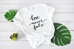 Crew Tee | Love Never Fails | The Leah - Ariella's Designs