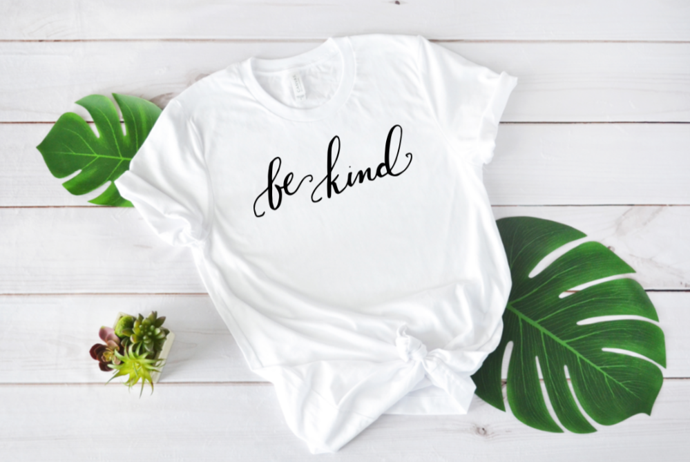 Crew Tee | Be Kind | The Leah - Ariella's Designs