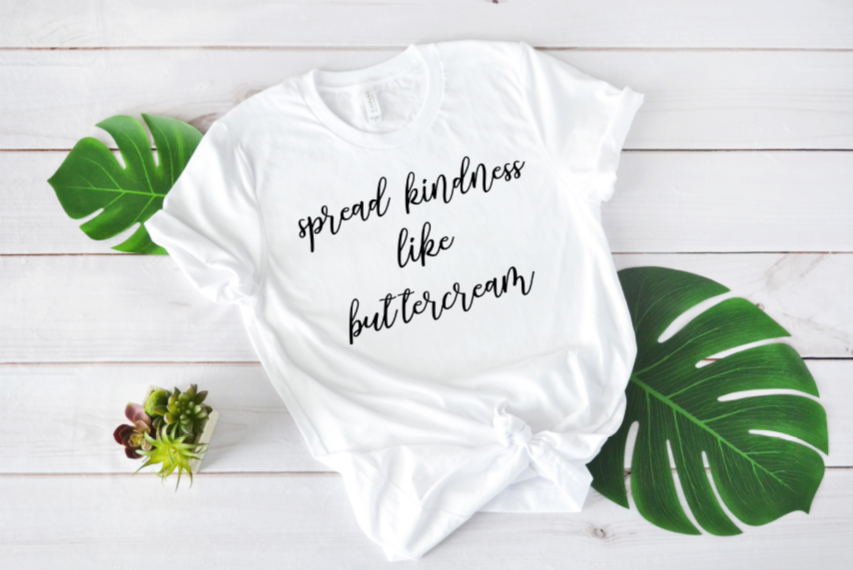 Crew Tee | Spread Kindness | The Leah - Ariella's Designs