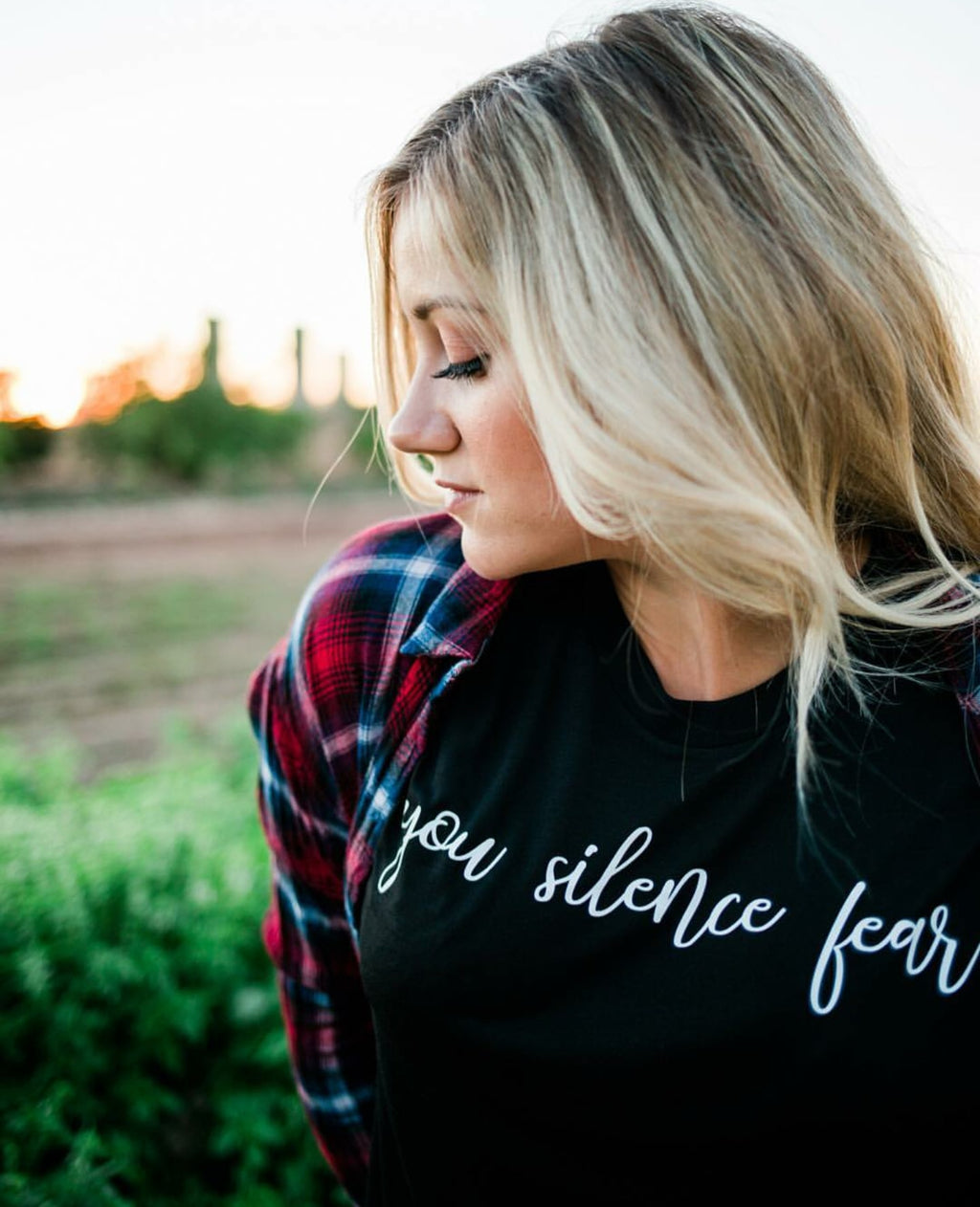 Crew Tee | You Silence Fear | The Leah - Ariella's Designs