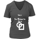 Too Unique To Fit In Women's V-Neck T-Shirt - LiVit BOLD - 7 Colors - LiVit BOLD