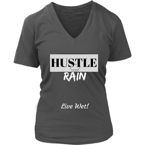 Hustle Rain - Live Wet! - Women's V-Neck - LiVit BOLD - 7 Colors - LiVit BOLD