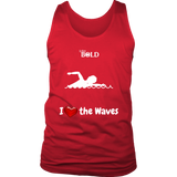 LiVit BOLD District Men's Tank - I Heart the Waves - Swimming - LiVit BOLD
