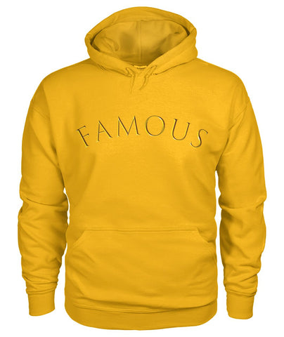FAMOUS - Gold Unisex Hoodie Ver1 by LiVit BOLD Unisex Hoodie