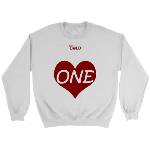 ONE LOVE - Unisex Crewneck Sweatshirt - LiVit BOLD - 3 Colors