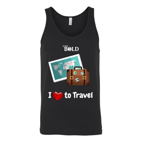 LiVit BOLD Unisex Tank - I love to Travel - LiVit BOLD