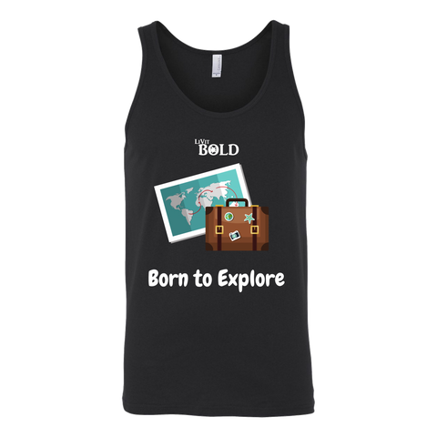 LiVit BOLD Canvas Unisex Tank - Born to Explore - LiVit BOLD