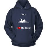 LiVit BOLD Hoodies for Men & Women - I Heart the Waves - Swimming - LiVit BOLD