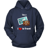 LiVit BOLD Hoodies for Men & Women - I love to Travel - LiVit BOLD