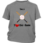 LiVit BOLD District Youth Shirt -  I heart this Game - LiVit BOLD