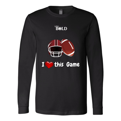 LiVit BOLD Canvas Long Sleeve Shirt - I Heart this Game - Football - LiVit BOLD