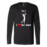 LiVit BOLD Canvas Long Sleeve Shirt - I Heart this Game - Golf - LiVit BOLD
