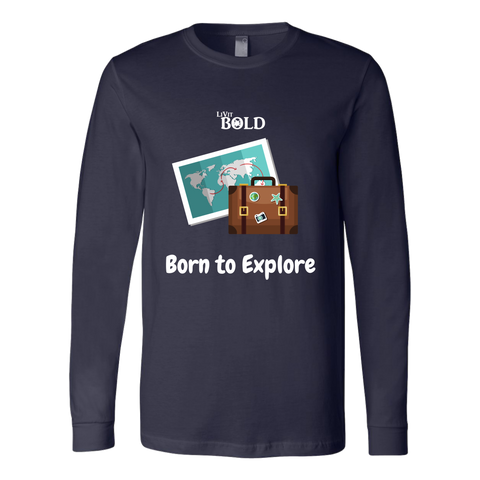 LiVit BOLD Canvas Long Sleeve Shirt - Born to Explore - LiVit BOLD