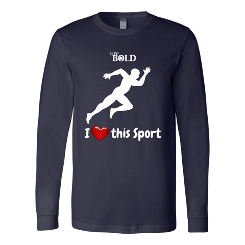 LiVit BOLD Canvas Long Sleeve Shirt - I Heart this Sport - Track & Field - LiVit BOLD