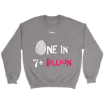 One In 7 Plus Billion - Women's Crewneck Sweatshirt - 4 Colors - LiVit BOLD - LiVit BOLD