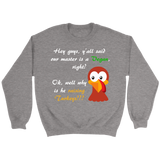Funny Turkey Vegan Thanksgiving Unisex Crewneck Sweatshirt - LiVit BOLD - 6 Colors - LiVit BOLD