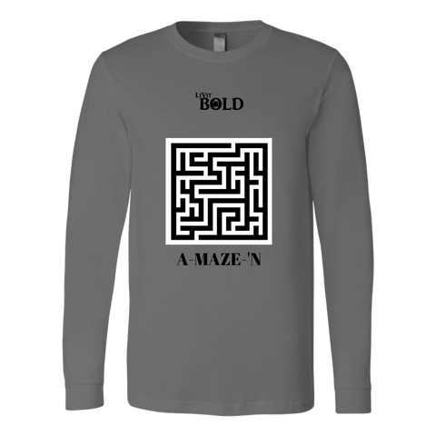 A-MAZE-'N Men's Long Sleeve Top - LIVit BOLD - 5 Colors - LiVit BOLD