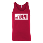 CONFIDENT Front and Back Print Unisex Tank - 4 Colors - LiVit BOLD - LiVit BOLD