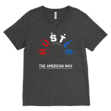 Hustle - The American Way - Men's V-Neck Top - LiVit BOLD - LiVit BOLD