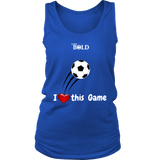 LiVit BOLD District Women's Tank - I Heart this Game - Soccer - LiVit BOLD