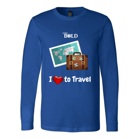 LiVit BOLD Canvas Long Sleeve Shirt - I love to Travel - LiVit BOLD