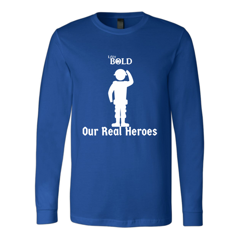 LiVit BOLD Canvas Long Sleeve Shirt - Our Real Heroes - Army Style - LiVit BOLD
