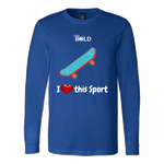 LiVit BOLD Canvas Long Sleeve Shirt - I Heart this Sport - Skateboarding - LiVit BOLD