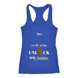 Small Keys Can Unlock BIG Treasures - Ladies Raceberback Tank - LiVit BOLD - LiVit BOLD