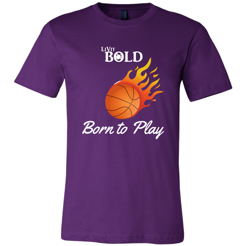 LiVit BOLD Men's - Born to Play - Shirt - Basketball Collection - LiVit BOLD