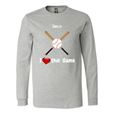 LiVit BOLD Canvas Long Sleeve Shirt --- I Heart This Game - LiVit BOLD