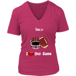 LiVit BOLD District Women's V-Neck Shirt - I Heart this Game - Football - LiVit BOLD