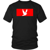 Red Block Bird Unisex T-Shirt - (2 Colors)