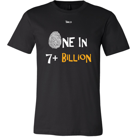 One In 7 Plus Billion - Men's T-Shirt - 15 Colors - LiVit BOLD - LiVit BOLD