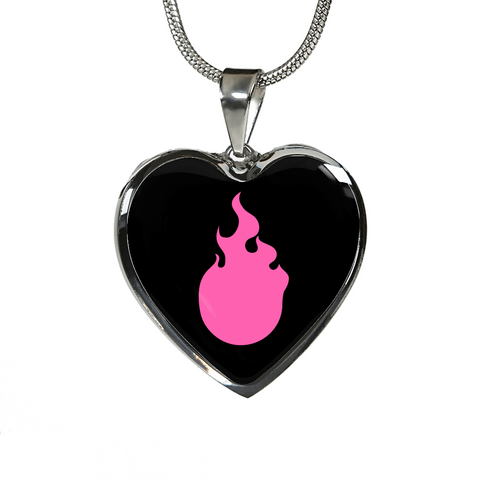 LiVit BOLD Pink Flame Luxury Silver Necklace and Bangle - LiVit BOLD