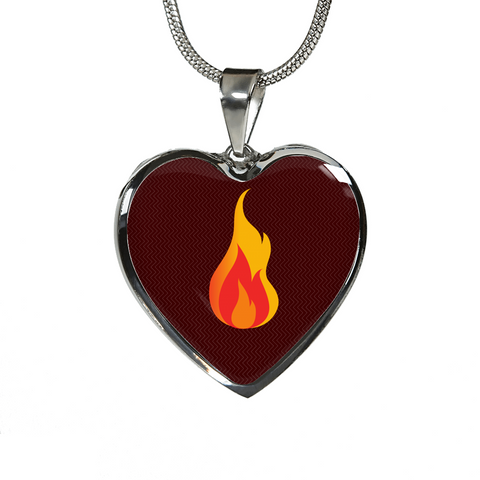 LiVit BOLD Passion Fire Heart Shaped Luxury Necklace & Bangle - LiVit BOLD