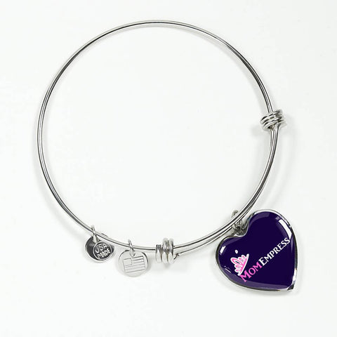 MomEmpress Heart Pendant Gold & Silver Bangle - LiVit BOLD - LiVit BOLD