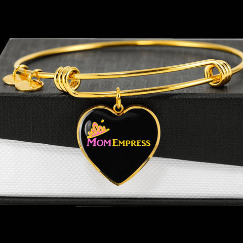 MomEmpress 	Heart Pendant Gold Bangle - LiVit BOLD - LiVit BOLD