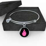 LiVit BOLD Pink Flame Silver Necklace and Bangle - LiVit BOLD