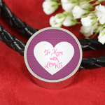 "LiVit BOLD Woven Leather Charm Bracelet - ""To Mom with Love"""