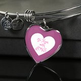 "LiVit BOLD Pink Heart Luxury Necklace & Bangle - ""To Mom with Love"" - LiVit BOLD"